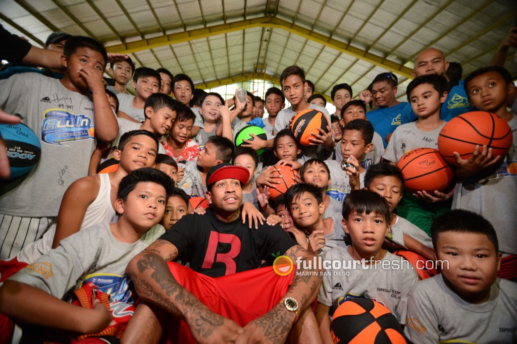 IN PHOTOS: Allen Iverson spreads the love in Manila